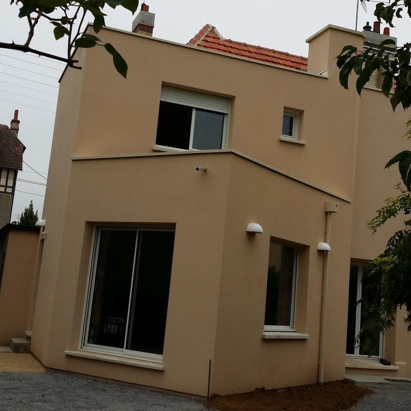 Extension de maison avec enduit de façade à Caen - Entreprise de ...
